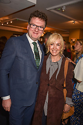 Ewan Venters and Sally Greene at the third annual Fortnum's x Frank exhibition at Fortnum & Mason, 181 Piccadilly, London, UK on September 12, 2018.<br /> 12 September 2018.