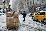 New York under the snow