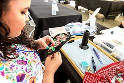 Adaka Cultural Festival 2016, Whitehorse, Yukon, Canada, Yukon First Nation Culture and Tourism Association, Kwanlin Dun Cultural Centre, Heather Dickson, beadwork