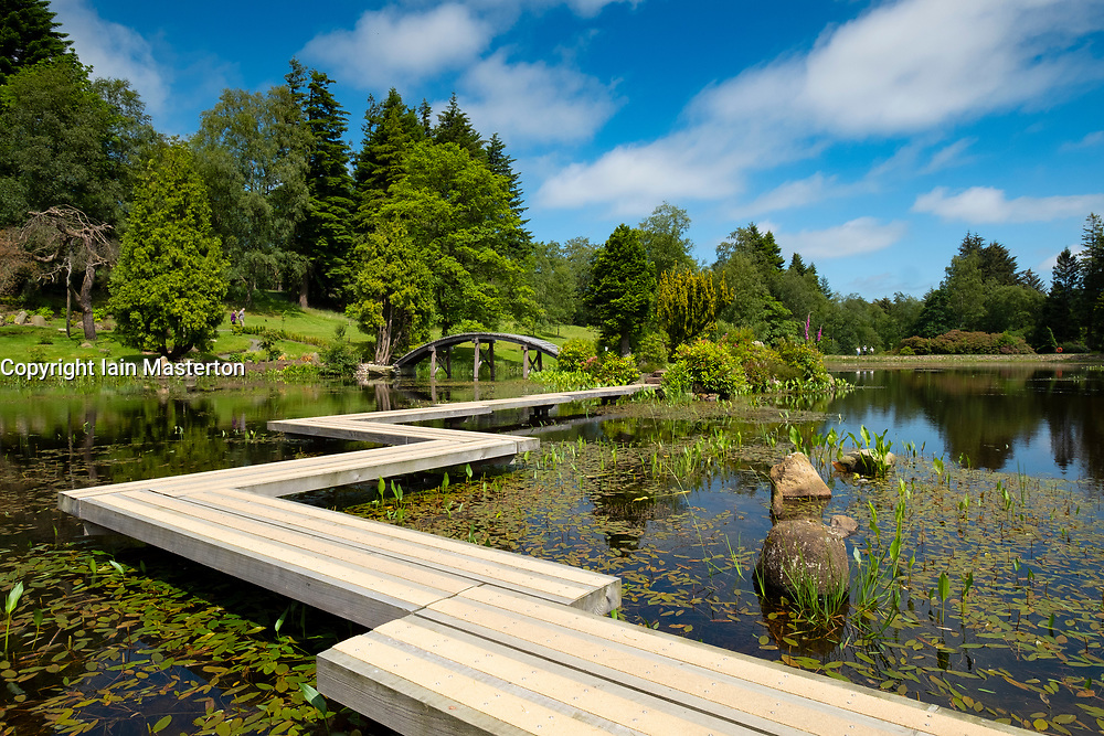 View of the new Japanese Garden at Cowden in Dollar, Clackmannanshire, Scotland, UK