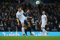 Blackburn Rovers' Bradley Dack vies for possession with Leeds United's Kalvin Phillips<br /> <br /> Photographer Kevin Barnes/CameraSport<br /> <br /> The EFL Sky Bet Championship - Leeds United v Blackburn Rovers - Saturday 9th November 2019 - Elland Road - Leeds<br /> <br /> World Copyright © 2019 CameraSport. All rights reserved. 43 Linden Ave. Countesthorpe. Leicester. England. LE8 5PG - Tel: +44 (0) 116 277 4147 - admin@camerasport.com - www.camerasport.com