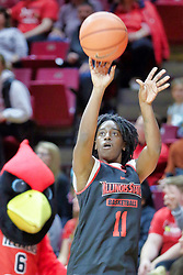 NORMAL, IL - October 12: Te Te Maggett during Illinois State Athletics Hoopfest on October 12 2018 at Redbird Arena in Normal, IL. (Photo by Alan Look)