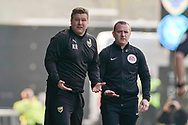 Oxford United manager Karl Robinson signals to the ref during the EFL Sky Bet League 1 match between Oxford United and Wycombe Wanderers at the Kassam Stadium, Oxford, England on 30 March 2019.