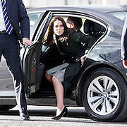 The Duchess of Cambridge at Craigmount High School, Edinburgh, Scotland to see how Judy Murray's Tennis on the Road is promoted in schools.  24-02-16