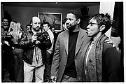Richard Young, Denzel Washington. party after the opening of Hurricane. Noble Rot. Feb. 2000. © Copyright Photograph by Dafydd Jones 66 Stockwell Park Rd. London SW9 0DA Tel 020 7733 0108 www.dafjones.com