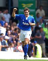 David Dunn celebrates scoring the 1st goal for Birmingham. Birmingham City v Tottenham Hotspur, FA Premiership, 16/08/2003. Credit:Digitalsport / Matthew Impey DIGITAL FILE ONLY