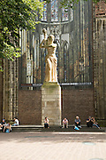 Statue outside Dom church, Saint Martin's Cathedral, Utrecht, Netherlands
