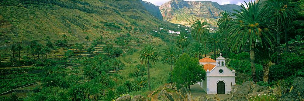 SPAIN, CANARY ISLANDS, LA GOMERA the Valle de Gran Rey with rural church