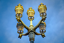Decorative street lighting in the Place du Capitole, Toulouse, France<br /> <br /> (c) Andrew Wilson | Edinburgh Elite media