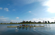 Eton, Berkshire, ENGLAND. GBR M4- leave the boathouse area,  for a training session before the British International Rowing, Team announcment, for 2006 World Cup Regattas' Peter Spurrier/Intersport Images,.Mobile 44 (0) 7973 819 551.email images@intersport-images.com   [Mandatory Credit, Peter Spurier/ Intersport Images].