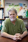 Paulo Adario of Greenpeace, UN Forest hero in the Greenpeace Brazil office in Manaus.