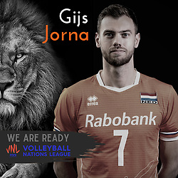Gijs Jorna of Netherlands, Photoshoot selection of Orange men's volleybal team season 2021on may 11, 2021 in Arnhem, Netherlands (Photo by RHF Agency/Ronald Hoogendoorn)