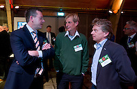 UTRECHT - Jeroen Stevens, Chris Veldkamp en Beer Flik , A tribe called Golf, de kracht van de connectie. Nationaal Golf Congres van de NVG 2014 , Nederlandse Vereniging Golfbranche. COPYRIGHT KOEN SUYK
