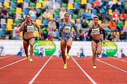 ZoeSedneyof Netherlands, DafneSchippersof Netherlands in action on the 100 meter during FBK Games 2021 on 06 june 2021 in Hengelo.