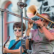 BALTIMORE United States - July 18, 2015: Troy Andrews (aka Trombone Shorty) of Trombone Shorty & Orleans Avenue performs on the Wells Fargo Stage at Artscape, located in Baltimore's Mount Royal Cultural Corridor