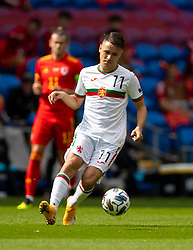 CARDIFF, WALES - Sunday, September 6, 2020: Bulgaria's Yanis Karabelyov during the UEFA Nations League Group Stage League B Group 4 match between Wales and Bulgaria at the Cardiff City Stadium. (Pic by David Rawcliffe/Propaganda)