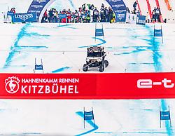 25.01.2020, Streif, Kitzbühel, AUT, FIS Weltcup Ski Alpin, im Rahmen der KitzCharityTrophy 2020 am Samstag, 25. Jänner 2020, auf der Streif in Kitzbühel. // f.l. Sebastian Vettel and Bernie Ecclestone during the KitzCharityTrophy 2020 at the Streif in Kitzbühel, Austria on 2020/01/25, im Bild v.l. Sebastian Vettel, Bernie Ecclestone // f.l. Sebastian Vettel and Bernie Ecclestone during the KitzCharityTrophy 2020 at the Streif in Kitzbühel, Austria on 2020/01/25. EXPA Pictures © 2020, PhotoCredit: EXPA/ Stefan Adelsberger