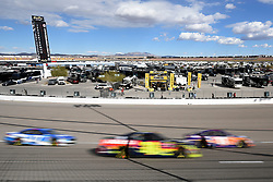 March 4, 2018 - Las Vegas, NV, U.S. - LAS VEGAS, NV - MARCH 04: Cars navigate turn one during the Monster Energy NASCAR Cup Series Pennzoil 400 Sunday, March 4, 2018, at the Las Vegas Motor Speedway in Las Vegas, NV. (Photo by Sam Morris/Icon Sportswire) (Credit Image: © Sam Morris/Icon SMI via ZUMA Press)