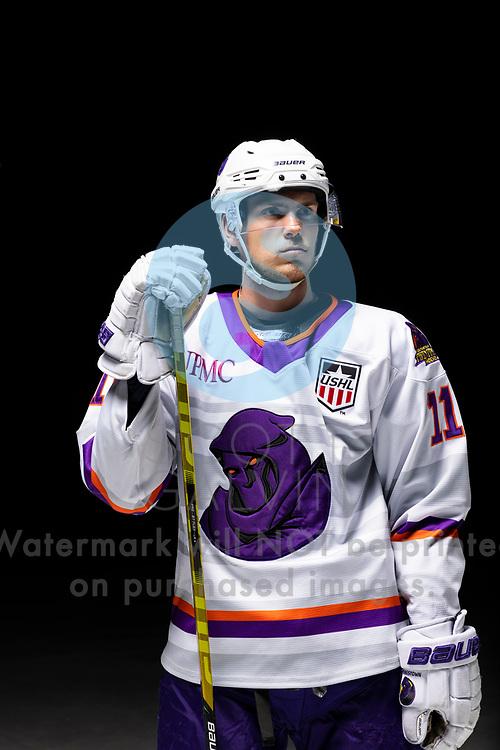 Youngstown Phantoms player photo shoot on April 14, 2021. <br /> <br /> Georgii Merkulov, forward, 11