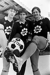 March 10, 1984 - Stockholm, SVERIGE - 840310 Fotboll, AIK: Kjell Jonevret, Thomas Johansson och Thomas Andersson..©ÊBildbyrÅ'n - 6887 (Credit Image: © BildbyrN/Bildbyran via ZUMA Wire)