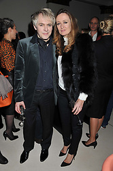 NICK RHODES and LUCY YEOMANS at a private dinner hosted by Lucy Yeomans in honour of Jason Brooks at The Cafe Royal, Regent Street, London on 13th February 2013.