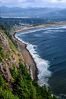 Nehalem Bay Peninsula from the Neakanie Mountain overlook, Oregon, USA, 200808310754.<br /> <br /> Copyright Image from Victor Patterson, Belfast, UK<br /> <br /> t: +44 28 9066 1296 (from Rep of Ireland 048 9066 1296)<br /> m: +44 7802 353836<br /> <br /> victorpattersonbelfast@gmail.com<br /> <br /> www.victorpatterson.com OR <br /> www.images4media.com<br /> <br /> Please see my Terms and Conditions of Use at https://www.victorpatterson.com/page2<br /> It is IMPORTANT that you familiarise yourself with them.<br /> <br /> Images used on the Internet incur an additional cost and must be visibly watermarked i.e. © Victor Patterson within the body of the image and copyright metadata must not be deleted. Images used on the Internet have a size restriction of 4 kbs and are chargeable at rates available at victorpatterson.com.<br /> <br /> This image is only available for the use of the download recipient i.e. television station, newspaper, magazine, book publisher, etc, and must not be passed on to any third party. It is also downloaded on condition that each and every usage is notified within 7 days to victorpattersonbelfast@gmail.com.<br /> <br /> The right of Victor Patterson to be identified as the author is asserted in accordance with The Copyright Designs And Patents Act (1988). All moral rights are asserted.