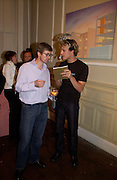 Timothy Taylor and Angel: Roan Beentjes, Silent auction of works by leading artists to celebrate ArtangelÍs 10th birthday. the Old Sierra Leonne Embassy, 33, Portland Place. 7 June 2003. © Copyright Photograph by Dafydd Jones 66 Stockwell Park Rd. London SW9 0DA Tel 020 7733 0108 www.dafjones.com