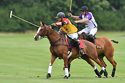 Prince Harry pictured playing at the Jerudong Trophy polo match, at Cirencester Park Polo Club, Gloucestershire. Picture date: Saturday July 15th, 2017. Photo credit should read: Matt Crossick/ EMPICS Entertainment.