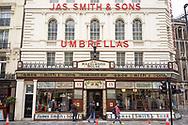 Stick and Umbrella emporium in New Oxford Street, Bloomsbury in London, UK