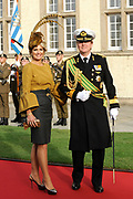 Religious wedding of Grand Duke Guillaume and Princess Stephanie at the Cathedral Notre-Dame in Luxembourg <br /> <br /> On the photo:  Princess Maxima and Prince Willem-Alexander