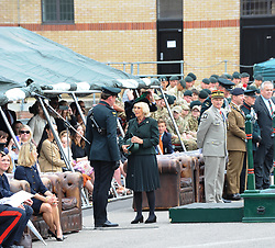 May 1, 2019 - London, United Kingdom - the New Normandy Barracks, Aldershot to meet the members of the Battalion and their families and also to attend the Medals Parade. .65 medals were presented to the soldiers of all ranks at the New Normandy Barracks, Aldershot. (Credit Image: © Terry Scott/SOPA Images via ZUMA Wire)