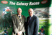 Mayor of Galway Noel Larkin with Peter Allen Chair of the Galway Race Course  in the g hotel for the launch of The Galway Races 2016 Summer Festival which runs from the 25th of July to the 31st of July in Galway City. Photo: Andrew Downes :