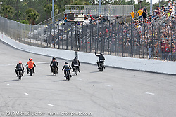 Sons of Speed Vintage Motorcycle Races at New Smyrina Speedway. New Smyrna Beach, USA. Saturday, March 9, 2019. Photography ©2019 Michael Lichter.