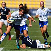 Parma 13/09/2021, Stadio S.Lanfranchi<br /> Qualificazioni Mondiali 2022<br /> Scozia vs Italia femminile<br /> <br /> Maria Magatti sfugge a Rhona Lloyd