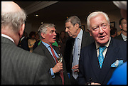 FRANCIS FULFORD; SIR TOBY CLARKE; SIR BENJAMIN SLADE, The hon Alexandra Foley hosts drinks to introduce ' Lady Foley Grand Tour' with special guest Julian Fellowes. the Sloane Club. Lower Sloane st. London. 14 May 2014