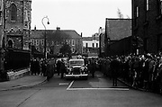 The State Funeral of Sir Alfred Chester Beatty. Crowds outside St. Patrick's Cathedral, Dublin..29.01.1968