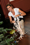 Sky Radio Christmas Tree for Charity 2011 in Artis, Amsterda.<br /> <br /> Op de foto: Danielle Oerlemans