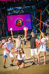 Movimento de Publico durante a 25ª edição do Planeta Atlântida. O maior festival de música do Sul do Brasil ocorre nos dias 31 Janeiro e 01 de fevereiro, na SABA, praia de Atlântida, no Litoral Norte do Rio Grande do Sul. FOTO: <br /> André feltes/ Agência Preview