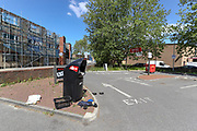 KFC has decided to reopen most of its branches across the UK for takeaway orders only, but its Drive Through branch in Old Kent Road is seen deserted in London on Tuesday, May 5, 2020.(Photo/Vudi Xhymshiti)