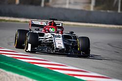February 28, 2019 - Montmelo, BARCELONA, Spain - CATALONIA, BARCELONA, SPAIN, 28 February. #99 Antonio GIOVINAZZI driver of Alfa Romeo Racing during the winter test at Circuit de Barcelona Catalunya. (Credit Image: © AFP7 via ZUMA Wire)