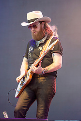 April 28, 2018 - Indio, CA, U.S. - INDIO, CA - APRIL 28:  John Osborne of the Brothers Osborne performed at Stagecoach, California's Country Music Festival on April 28, 2018 at the Empire Polo Club in Indio, CA. (Photo by Tom Walko/Icon Sportswire) (Credit Image: © Tom Walko/Icon SMI via ZUMA Press)