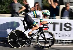 26.09.2018, Innsbruck, AUT, UCI Straßenrad WM 2018, Einzelzeitfahren, Elite, Herren, von Rattenberg nach Innsbruck (54,2 km), im Bild Rohan Dennis (AUS, 1. Platz, Goldmedaille) // gold medalist and world champion Rohan Dennis of Australia during the men's individual time trial from Rattenberg to Innsbruck (54,2 km) of the UCI Road World Championships 2018. Innsbruck, Austria on 2018/09/26. EXPA Pictures © 2018, PhotoCredit: EXPA/ Reinhard Eisenbauer