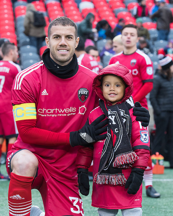Ottawa Fury FC defender Rafael Alves (#33) before the NASL match between the Ottawa Fury FC and the Fort Lauderdale Strikers at TD Place Stadium in Ottawa, ON. Canada on Oct. 29, 2016.<br /> <br /> PHOTO: Steve Kingsman/Freestyle Photography