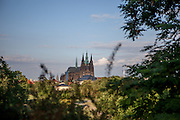 "Prague Castle seen from the ""Novy Svet"" quater."
