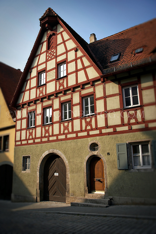 A Tudor style green house in Rothenburg, Germany