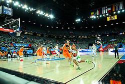 08-09-2015 CRO: FIBA Europe Eurobasket 2015 Slovenie - Nederland, Zagreb<br /> De Nederlandse basketballers hebben de kans om doorgang naar de knockoutfase op het EK basketbal te bereiken laten liggen. In een spannende wedstrijd werd nipt verloren van Slovenië: 81-74 / Jure Balazic of Slovenia. Photo by Matic Klansek Velej / RHF