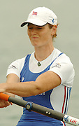 FISA World Cup Rowing Munich Germany..27/05/2004..Thursday morning opening heats...GBR W4X. Alison Mobray. [Mandatory Credit: Peter Spurrier: Intersport Images].