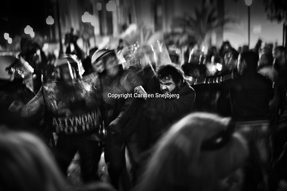 A group of Greeks demonstrate against the increasing number of immigrants. Simultaneously, the Greek Prime Minister George Papandreou participates in a service and a concert at the largest church in Athens to bring attention to an increase of racially motivated violence. Some of the demonstrators had been thrown out of the church just as the service started. Hate crimes are a growing problem in Greece. According to the Red Cross, about 300 immigrants arrive daily, facing an uncertain future.
