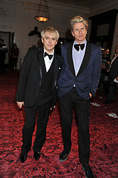 Left to right, NICK RHODES and JOHN TAYLOR at the GQ Men of the Year 2011 Awards dinner held at The Royal Opera House, Covent Garden, London on 6th September 2011.