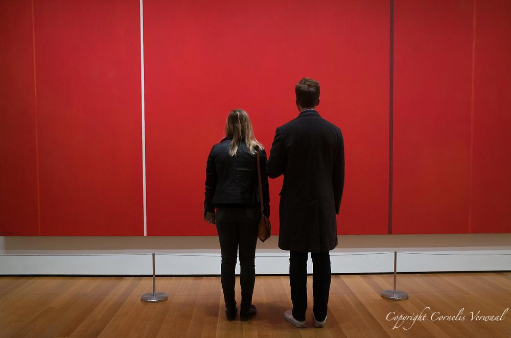 "Barnett Newman (American, 1905-1970)<br /> Vir Heroicus Sublimis ""Man, Heroic and Sublime"" (1950-51)<br /> MoMA (Museum of Modern Art) New York City."